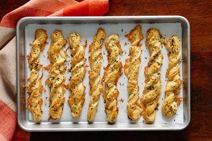 Cheesy Garlic & Herb Twists Recipe - Kraft Recipes