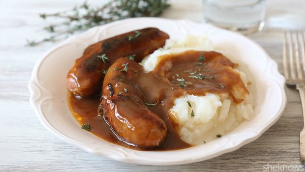 Luscious Guinness gravy puts bangers and mash over the top