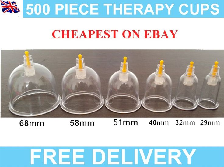 500 CUPPING/HIJAMA CUPS HIGHEST QUALITY, BCS GUARANTEED & FREE DELIVERY