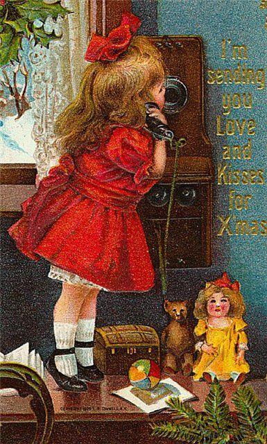 Новогодние открытки ретро. Старые новогодние открытки / Журнал