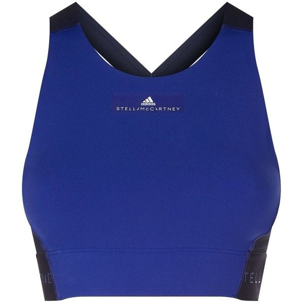 Adidas by Stella McCartney High Intensity Workout Sports Bra (4,245 INR) ❤ liked on Polyvore featuring activewear, sports bras, racerback sports bra, racer back sports bra, polka dot sports bra, adidas activewear and adidas sports bra