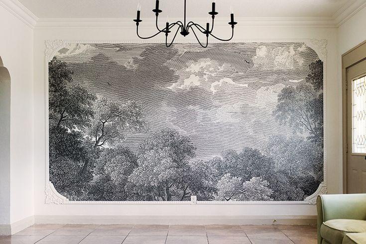 Diy Framed Wall Mural Feature Wall Wallpaper Large Wall Murals Frames On Wall