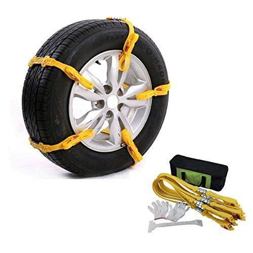AUXMART 10Pcs Car Snow Chains Adjustable Anti Slip Tire Chain Snow Chains for Car with Tyre Width 145~285mm. For product info go to:  https://www.caraccessoriesonlinemarket.com/auxmart-10pcs-car-snow-chains-adjustable-anti-slip-tire-chain-snow-chains-for-car-with-tyre-width-145285mm-2/