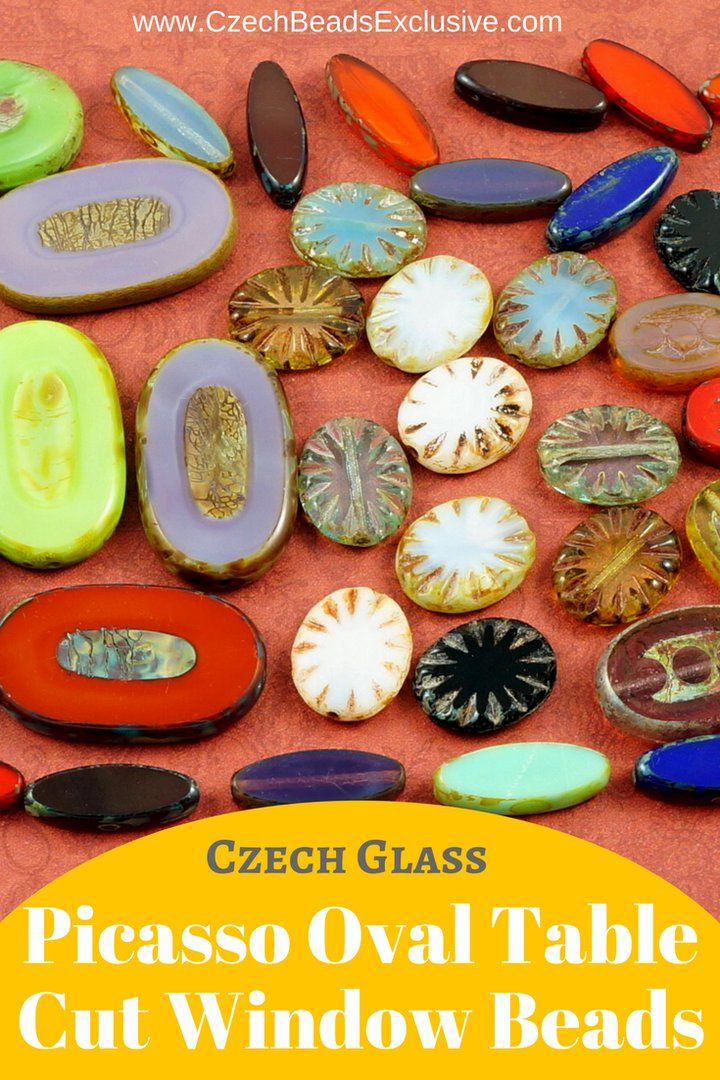 Czech Glass Picasso Oval Table Cut Window Beads  Different Colors, Shapes & Sizes! - Buy now with discount!  Hurry up - sold out very fast! www.CzechBeadsExclusive.com/+table+cut+oval SAVE them! ??Lowest price from manufacturer! Get free gift! 1 shipping costs - unlimited order quantity!  Worldwide super fast ?? shipping with tracking number! Get high wholesale discounts! Sold with  at http://www.CzechBeadsExclusive.com table cut beads | picasso beads | picasso beads jewelry | picasso beads…
