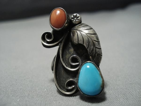 Southwestern Vintage NAVAJO Style STERLING FEATHER Trading Post Earrings
