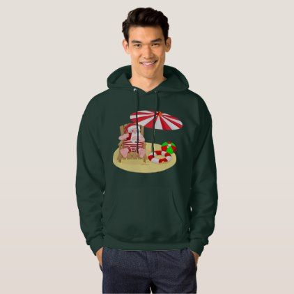 #xmas beach santa claus mens hooded sweatshirt - #Xmas #ChristmasEve Christmas Eve #Christmas #merry #xmas #family #kids #gifts #holidays #Santa