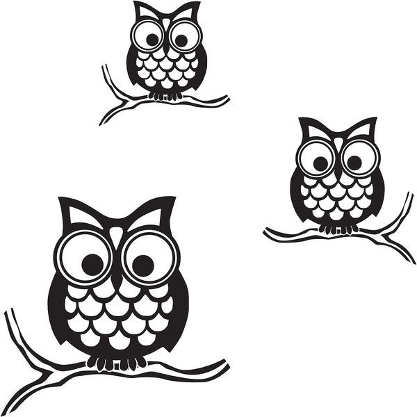 Give a Hoot Small Wall Decals (£16) ❤ liked on Polyvore featuring home, home decor, wall art, owl wall stickers, owl wall decals, owl decals, stick wall decals and vinyl decal sticker