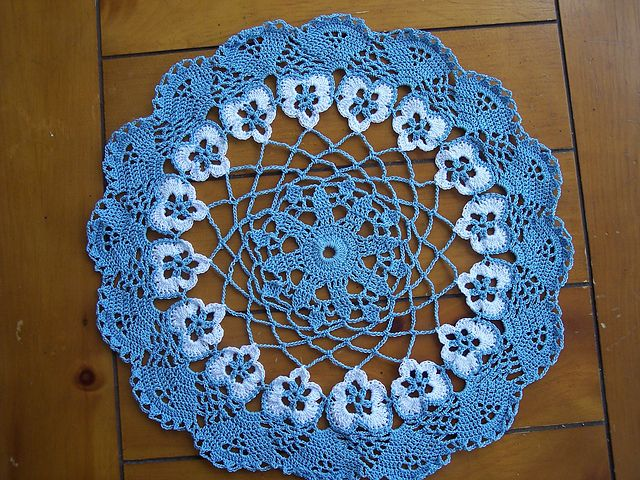 Pansy Doily Pattern « The Yarn Box