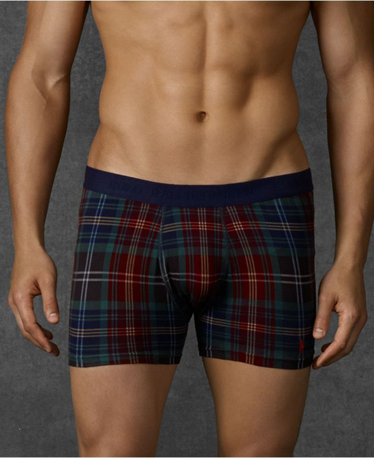 Polo Ralph Lauren Men's Underwear, Fall Plaid Stretch Cotton Jersey Boxer Brief - Underwear - Men - Macy's