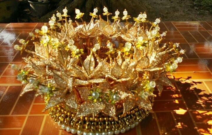 """A Bridal Crown /""""Hwa Kuan""""-Thai- Peranakan Chinese...from Phuket."""