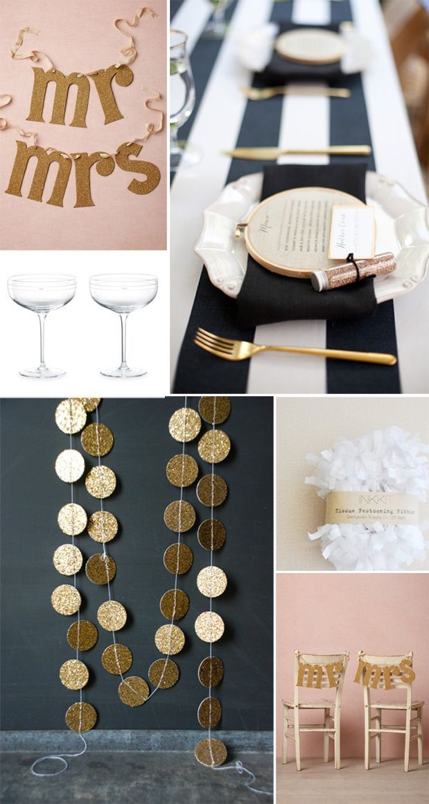 Gold, black and pink / blush. Color scheme for decorating my dressing room.