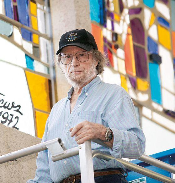 Queensland artist Nevil Matthews (1930-2013) designed this window at UQ
