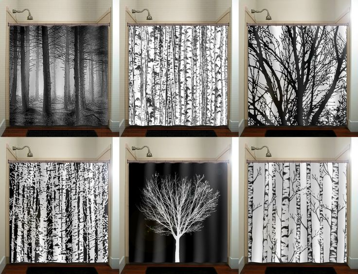brown and gray shower curtain. trunk forest white birch trees shower curtain bathroom decor fabric kids  bath window curtains panels valance Best 25 Tree ideas on Pinterest Pretty