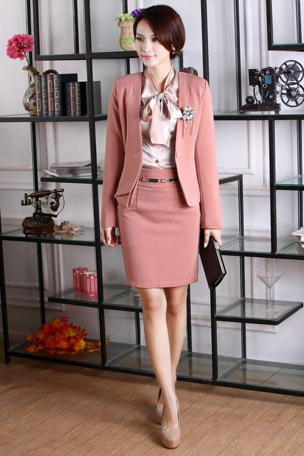 2014 New Fashion Women Skirts Suits for OL Office Ladies Career Business Blazer Sets Work Wear Autumn Spring Free shipping