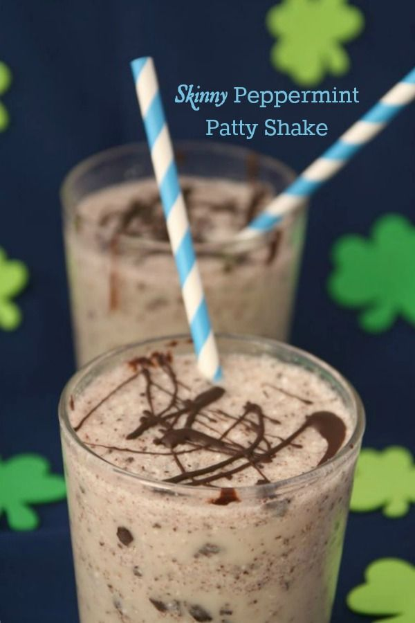 The Best of this Life: Skinny Peppermint Patty Shake...stevia and protein powder instead of banana??