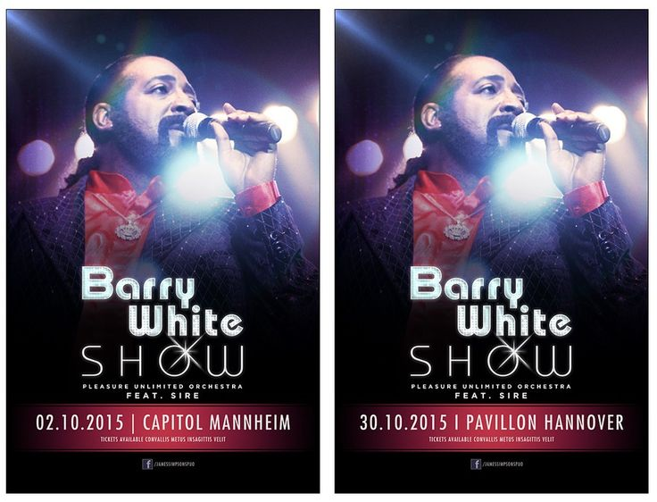 Concertposter: Spotlight on Barry White by subsiststudios