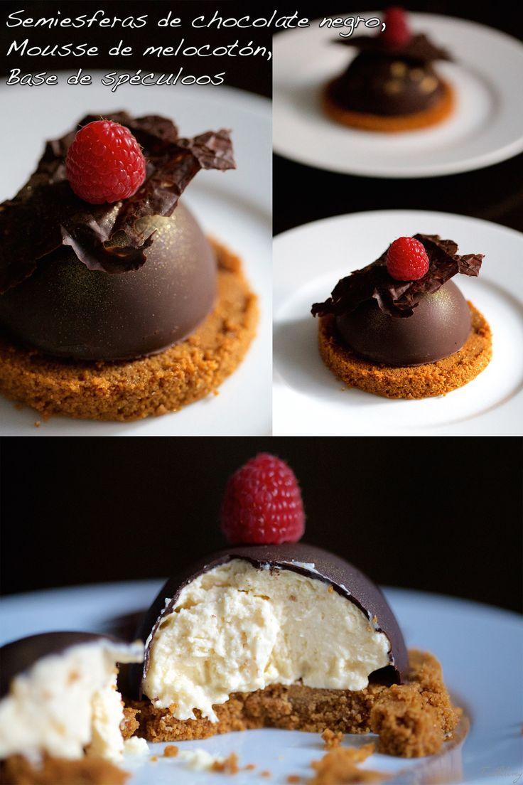 Semiesferas de chocolate