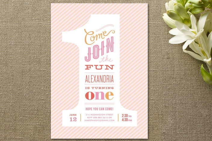 The Big One! Children's Birthday Party by Jennifer... at Minted.com