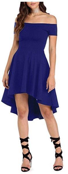 vestido enterizo corto azul