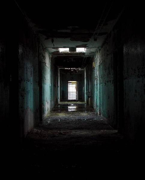 Attractive Dark Hallway   Photo Of The Abandoned Foxboro State Hospital