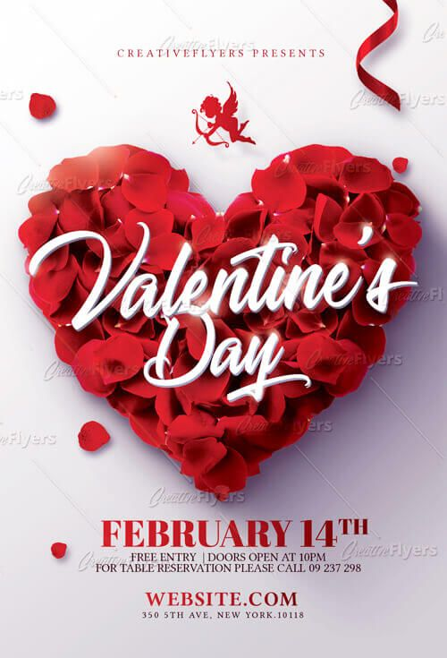 Check Out Valentines Day Flyer Template Creative Flyers Flyer