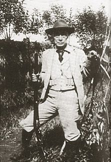 Tokugawa Yoshinobu(1837-1913, 15th and last Tokugawa shogun, shown hunting in his later years.