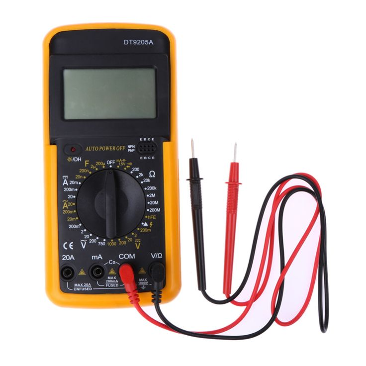 LCD Digital Multimeter Voltmeter Ammeter Volts Amps Resistors Ohms Electric Handheld AC/DC Tester Digital Multimeter