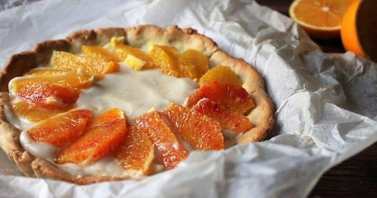 Crostata light al profumo di arance.