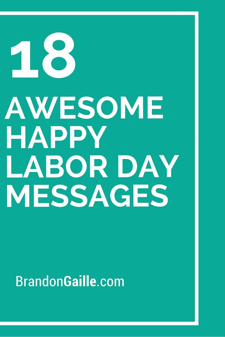 18 Awesome Happy Labor Day Messages