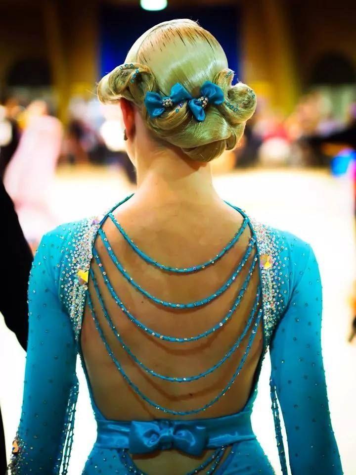 beautiful dancesport hairstyle