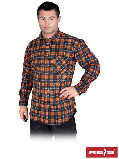 Flanelowa koszula robocza w kratę KF-GP - INTERNETOWY SKLEP BHP - artykuły i sprzęt bhp, odzież robocza, środki ochrony indywidualnej