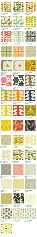 Orla Kiely - Modern vintage behang - woonaccessoires