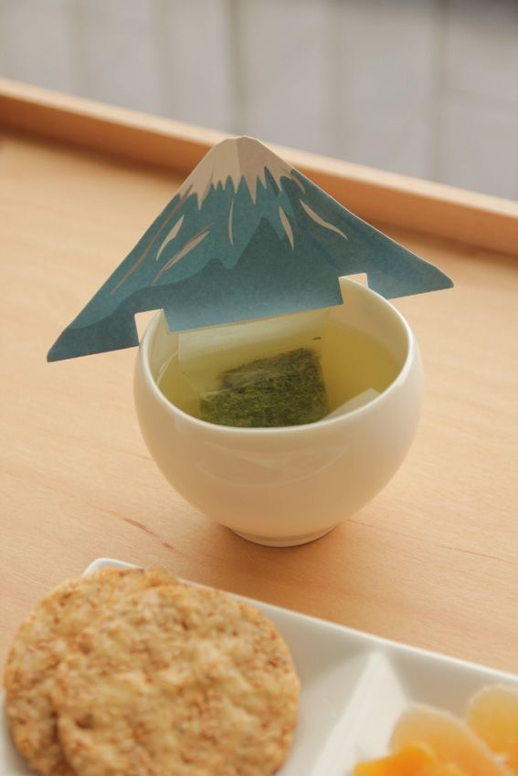 Japanese Green Tea Tea Bag Mt. Fuji Design #packaging