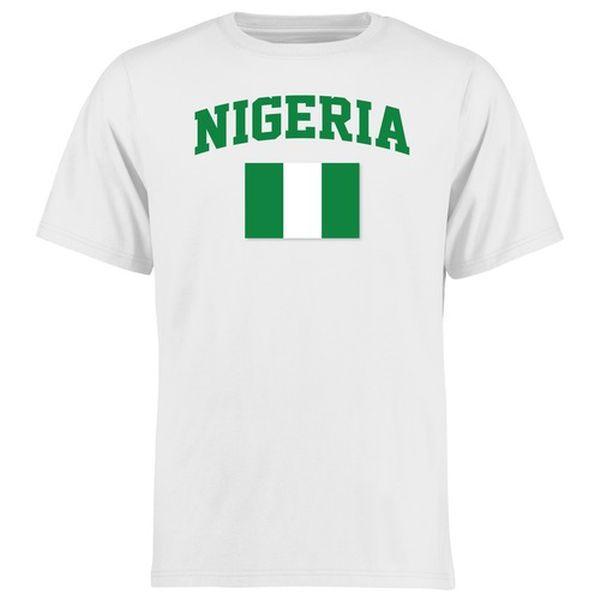 Nigeria Flag T-Shirt - White - $21.99