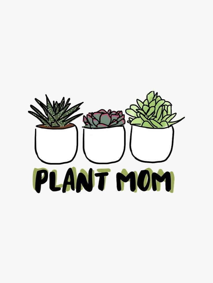 plant sticker by elliemiq in 2021 sticker shop