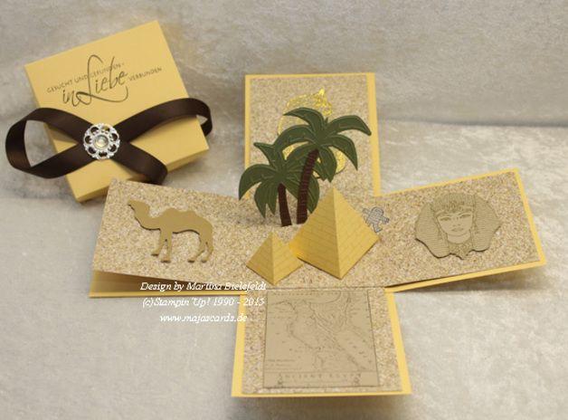 Geldgeschenke - Magic Box für eine Reise nach Ägypten - ein Designerstück von majas-C-ards bei DaWanda