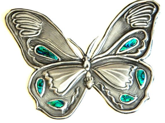 Embellishment Butterfly green inlay for Journal Kindle by Loutul, £17.00