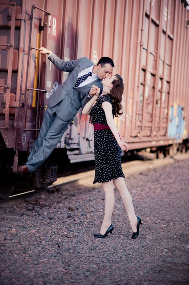 Vintage Inspired Engagement Shoot - Photo Source • Finished Vision Photography
