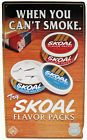 """1995 US Tobacco Skoal Brand Flavor Packs Line Advertising 19.5""""t Tin Wall Sign - http://oddauctions.net/tobacciana/1995-us-tobacco-skoal-brand-flavor-packs-line-advertising-19-5t-tin-wall-sign/"""