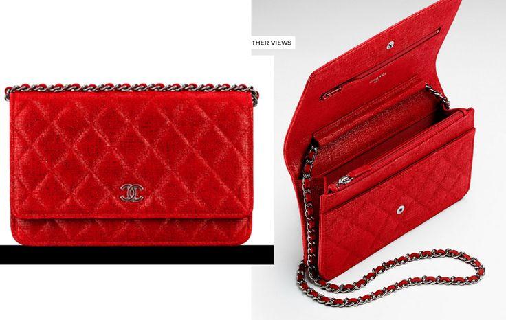 Chanel wallet on chain iridescent goatskin 4.8x7.6x1.4 1775