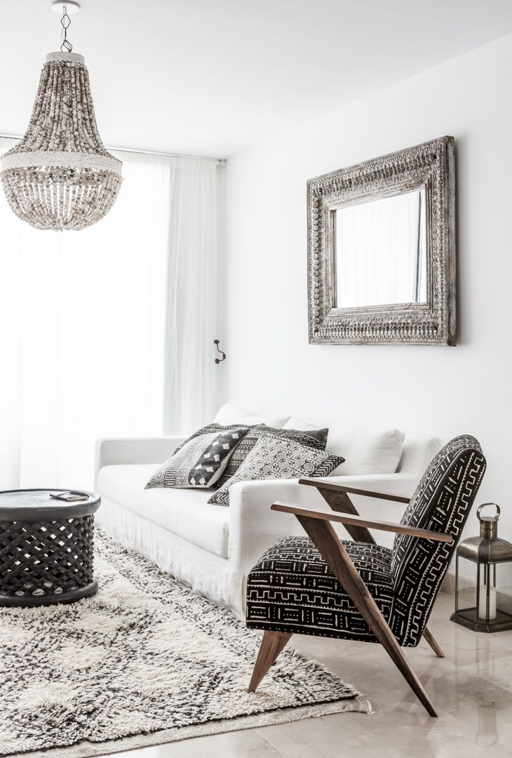 Elegant interior with Ethnic and Scandinavian twist. Photography by Riitta Sourander.