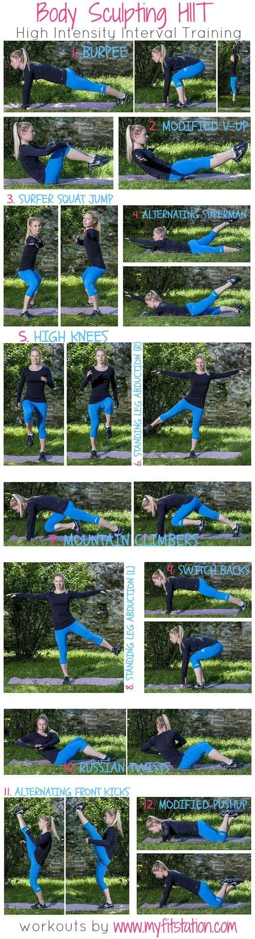Body Sculpting HIIT #fitness #workout #home #exercise by malinda