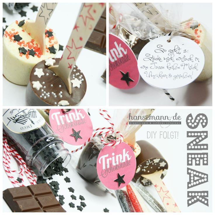 made-by-imme.de: Sneak DIY Trinkschokolade am Löffel & Printout