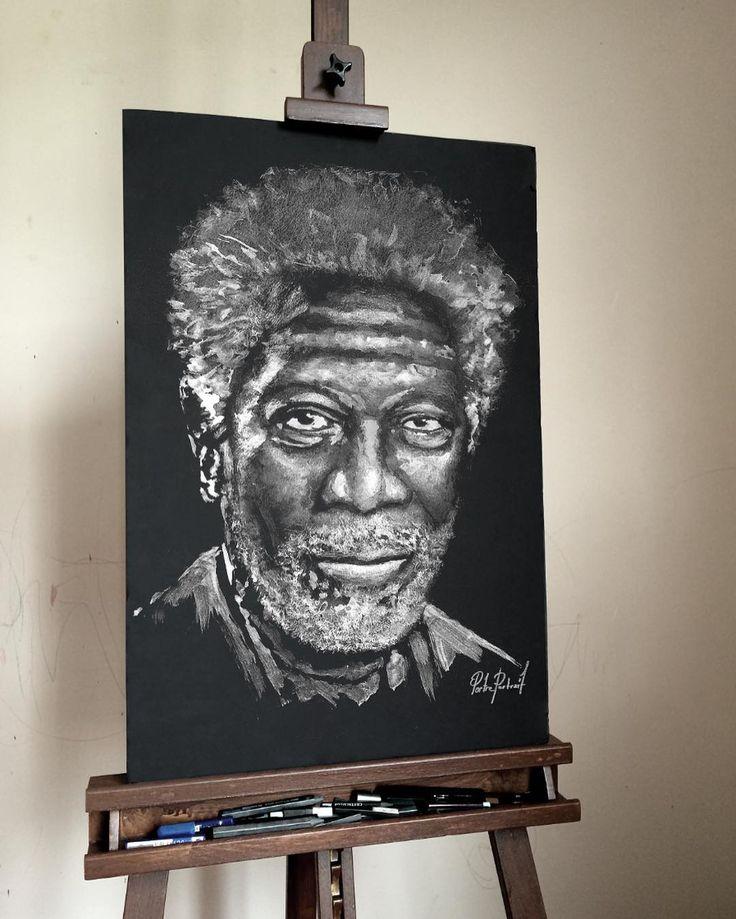 """Portre Portrait #morganfreeman""  #artwork #fineart #draw #drawing #portrait #portraitart #portre #artdrawing #artofdrawing #morganfreeman"