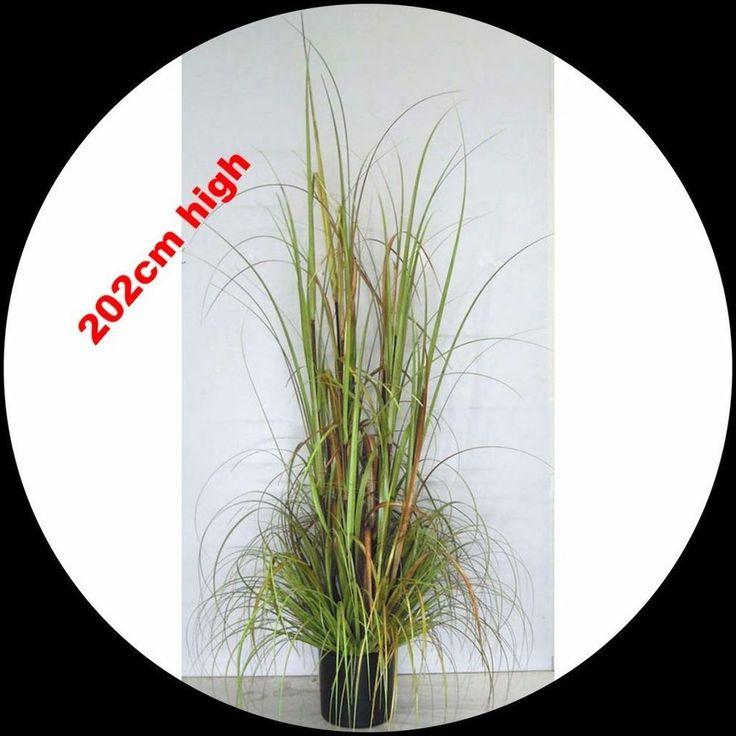 Artificial Plant Tree Ornamental Grass W Pot Planter Indoor Outdoor Decor 180 Cm