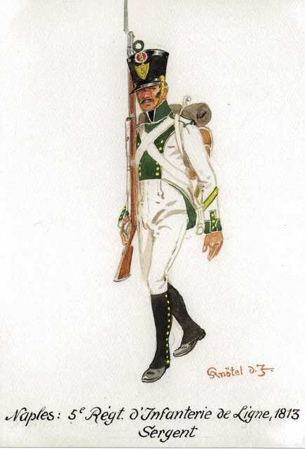 Kingdom Of Naples Sergeant 5th Regiment of Line 1813
