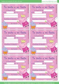 Tarjetas de cumpleaños Peppa Pig para imprimir gratis!  Consigue el kit completo en http://mundomab.com/index/tienda/peppa-pig-kit-imprimible-de-cumpleanos/   #PeppaPig #MundoMab #Ideas