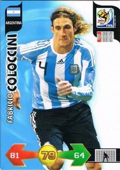 2010 Panini Adrenalyn XL World Cup (International Edition) #10 Fabricio Coloccini Front