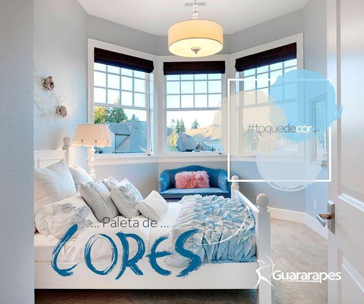 A ausência de tons intensos é necessária quando queremos criar uma atmosfera tranquila. O quarto é o melhor cômodo para se aplicar estas cores. O branco e as cores em tons claros são, por exemplo, excelentes aliados que proporcionam tranquilidade e relaxamento.   #cores #decoraçãoMDF #decoração #quartos #DesignInteriores #padrõesMDF #homedecor