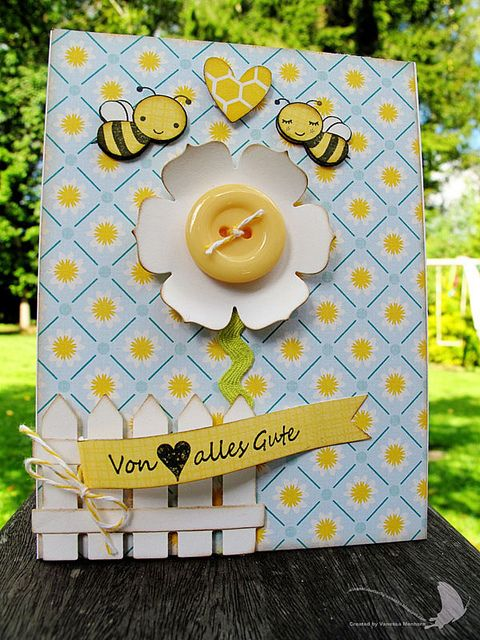 Cute spring card ✿ Join 2,100 others & follow the Cards and paper crafts board. Visit GrannyEnchanted.Com for thousands of digital scrapbook freebies. ⊱✿⊰ Cards and Paper Crafts Board: https://www.pinterest.com/grannyenchanted/cards-paper-crafts/